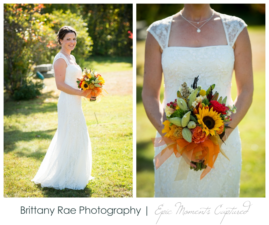 On the Marsh Wedding Kennebunkport Maine - Fall wedding bouquet