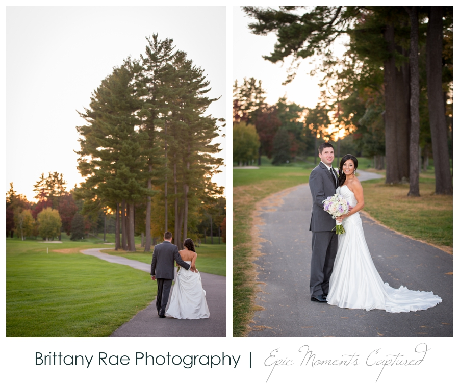 Manchester Country Club Wedding, New Hampshire - Fall Wedding Portraits
