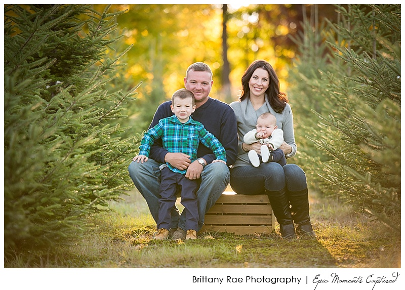 Christmas Tree Farm Family Photos Gorham Maine - 2