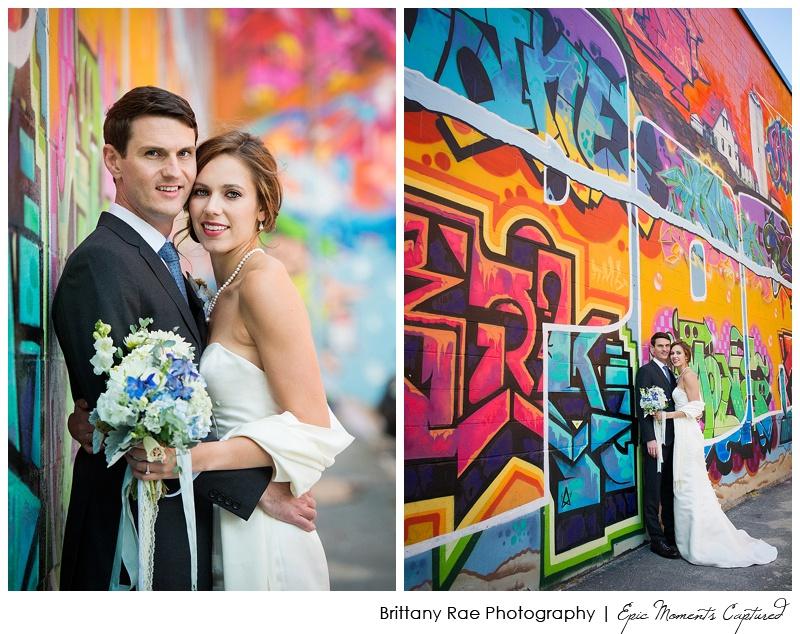 Portland Maine Wedding - Graffiti Wall Wedding