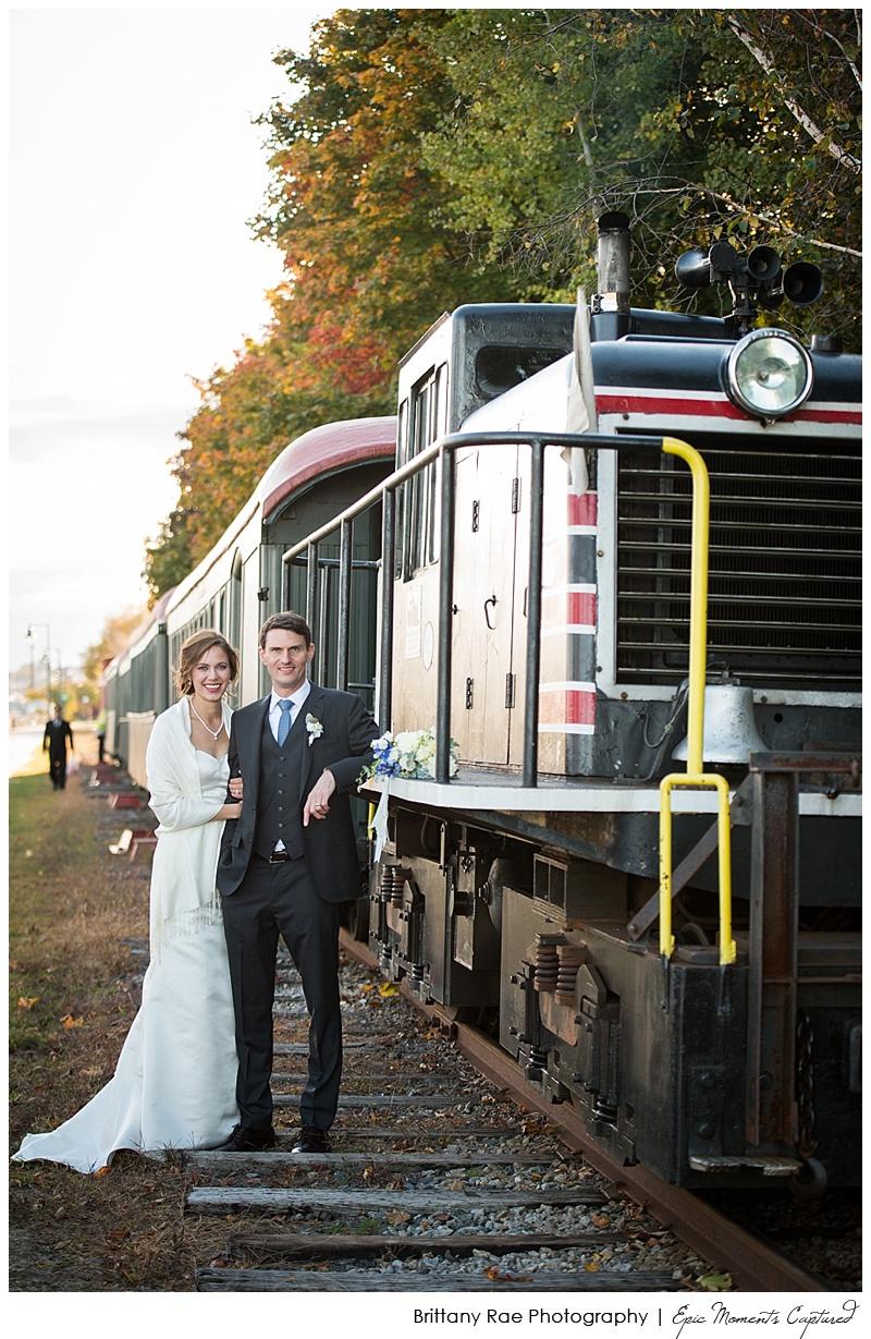 Portland Maine Wedding - Narrow Gauge Railroad Cocktail Hour