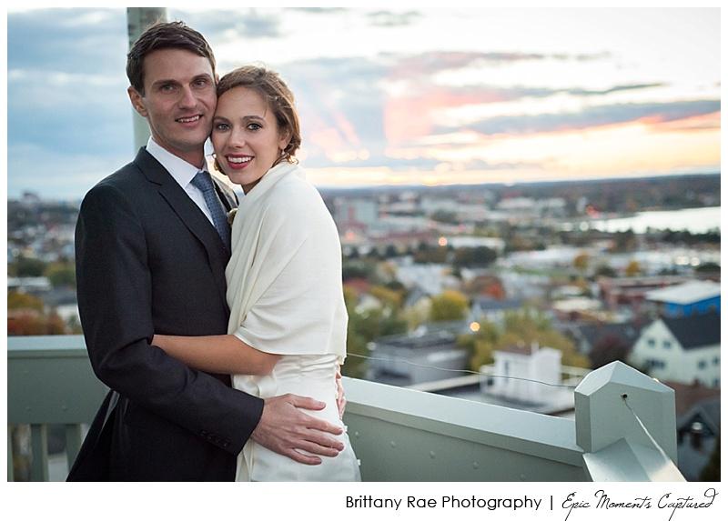 Portland Maine Wedding - Portland Observatory Cocktail hour