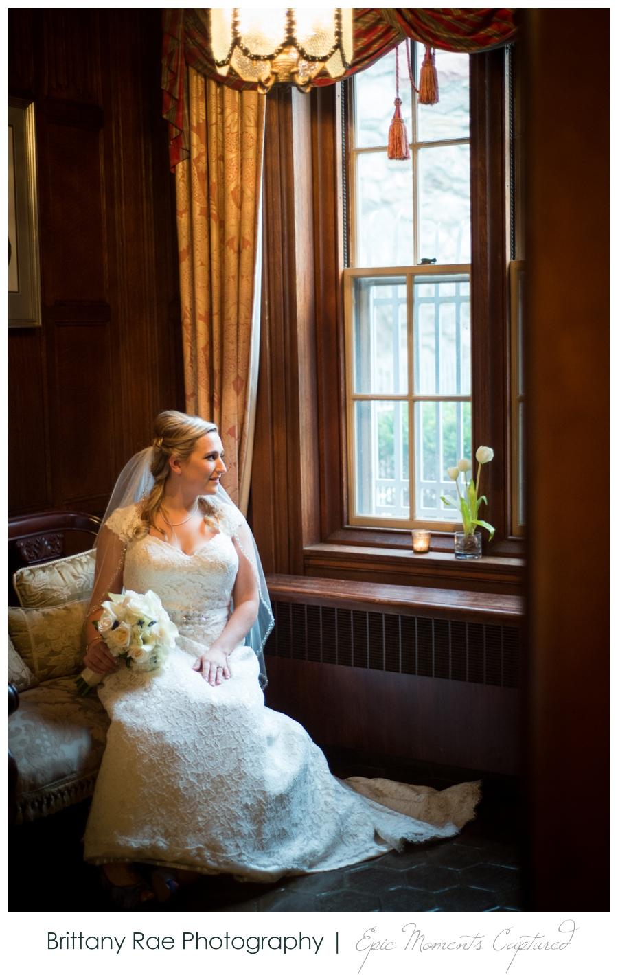 Searles Castle Wedding in Fall - Bridal Portraits inside Castle
