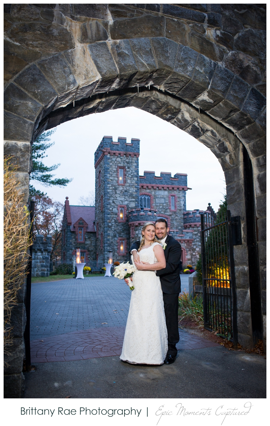 Searles Castle Wedding in Fall - Castle Wedding Portraits