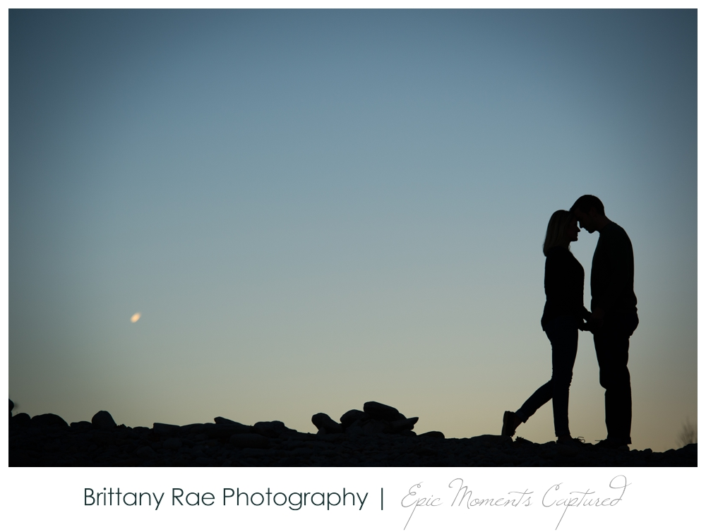Portland Head Light Engagement Session Portland Maine - Silhouette on the beach