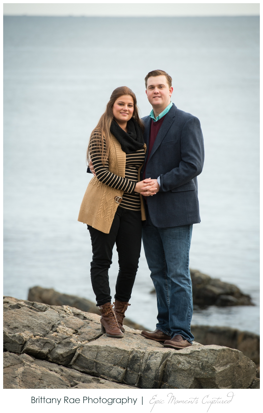 Portland Head Light Engagement Session Portland Maine - 9