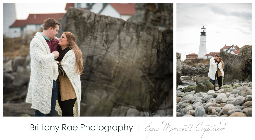 Portland Head Light Engagement Session Portland Maine - 10