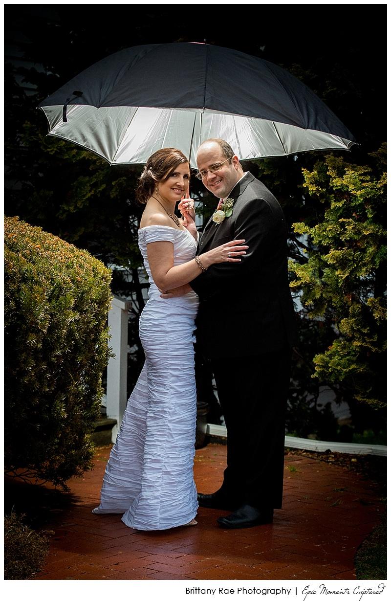 On the Marsh Wedding Kennebunkport, Maine - Rainy Wedding Portraits