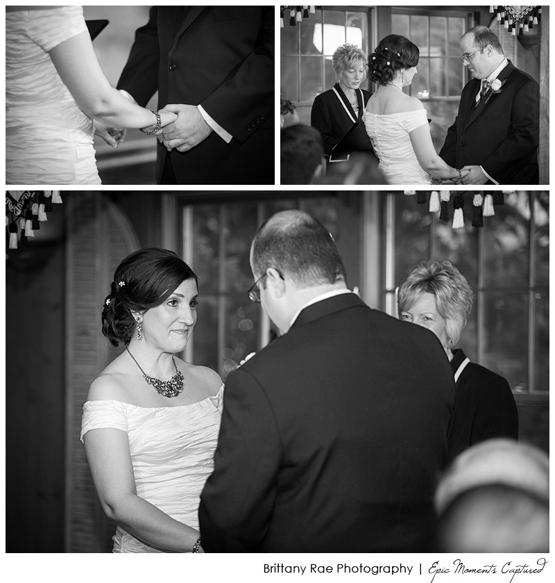 On the Marsh Wedding Kennebunkport, Maine - Black and White Ceremony