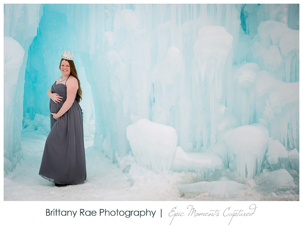 Ice Castles Maternity Session in Lincoln New Hampshire -