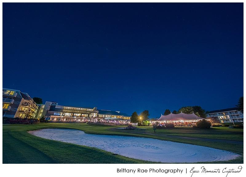 Seamiest Resort Tented Wedding in Maine - Samoset at night