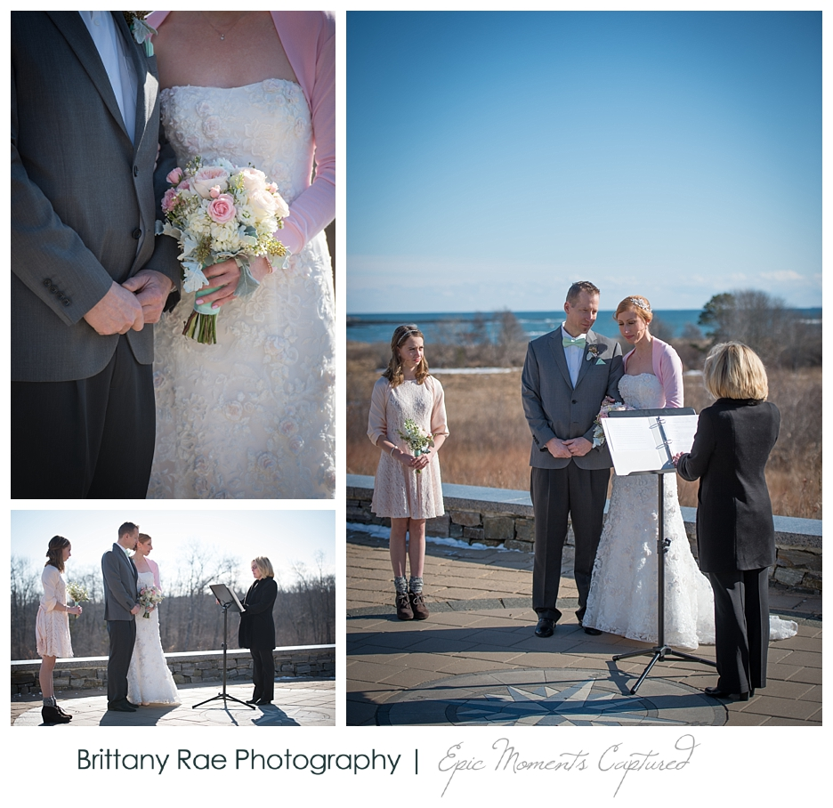 Inn By The Sea Wedding in Cape Elizabeth Maine - Ceremony by the ocean