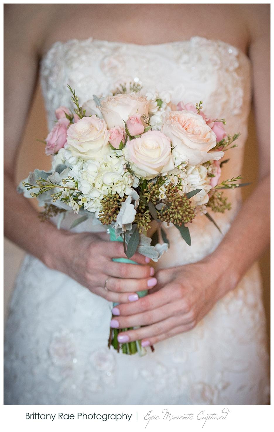 Inn By The Sea Wedding in Cape Elizabeth Maine - Blush Bridal Bouquet