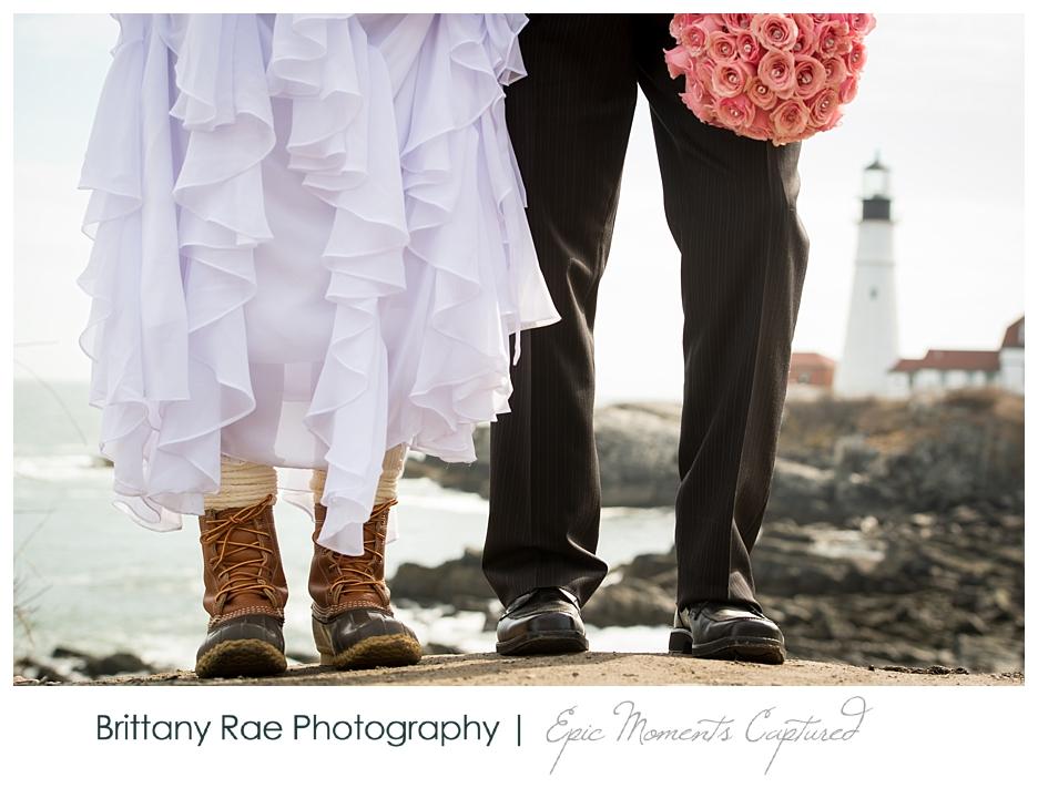 Portland Headlight Wedding, Cape Elizabeth, Maine - 4 LL Bean Wedding Boots