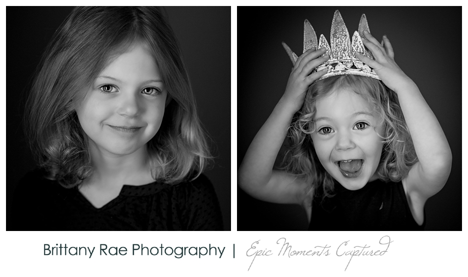 Black and White Children's Portraits in Scarborough Maine - Silly Faces