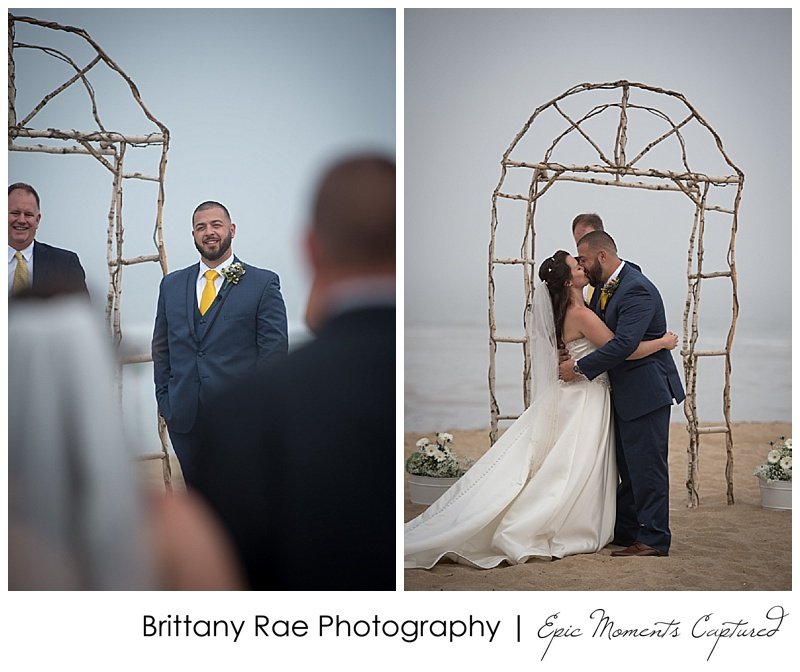 Old Orchard Beach Wedding - Ceremony on Beach