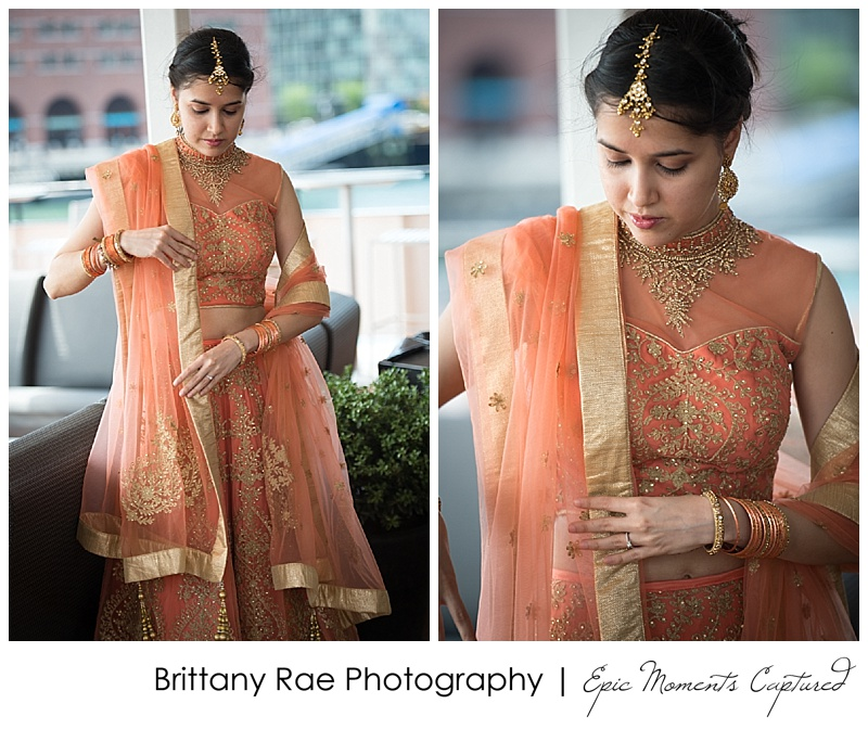 Hindu Wedding on Odyssey in Boston - Hindu Bride details