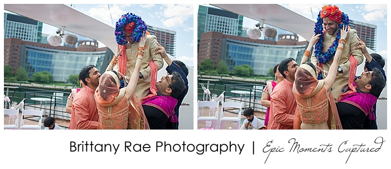 Hindu Wedding on Odyssey in Boston - Garland Ceremony