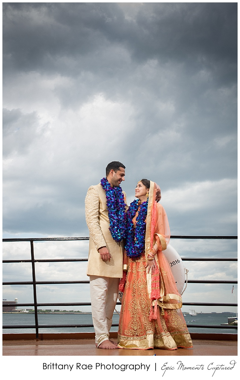Hindu Wedding on Odyssey in Boston - Dramatic Sky Wedding
