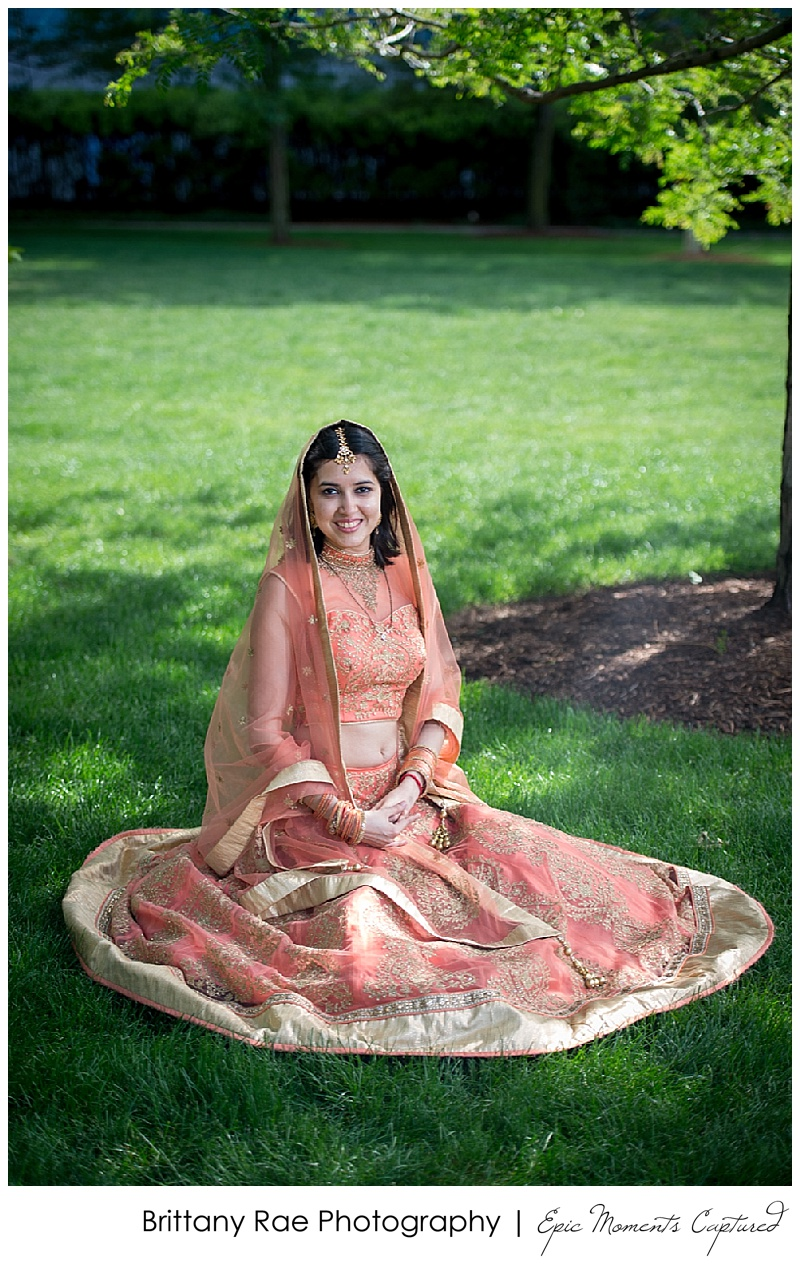 Hindu Wedding on Odyssey in Boston - Traditional Hindu Bridal Portrait