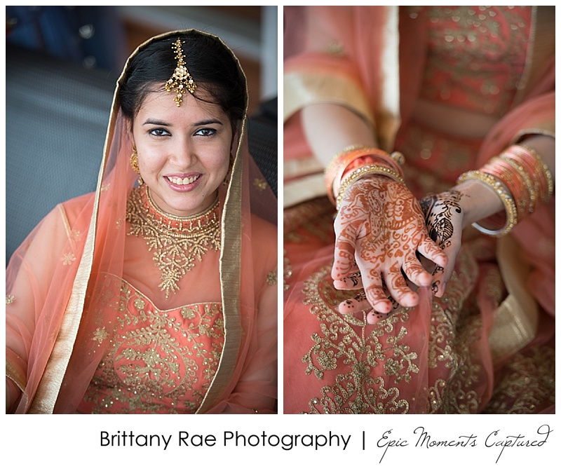 Hindu Wedding on Odyssey in Boston - Henna and Hindu Bride