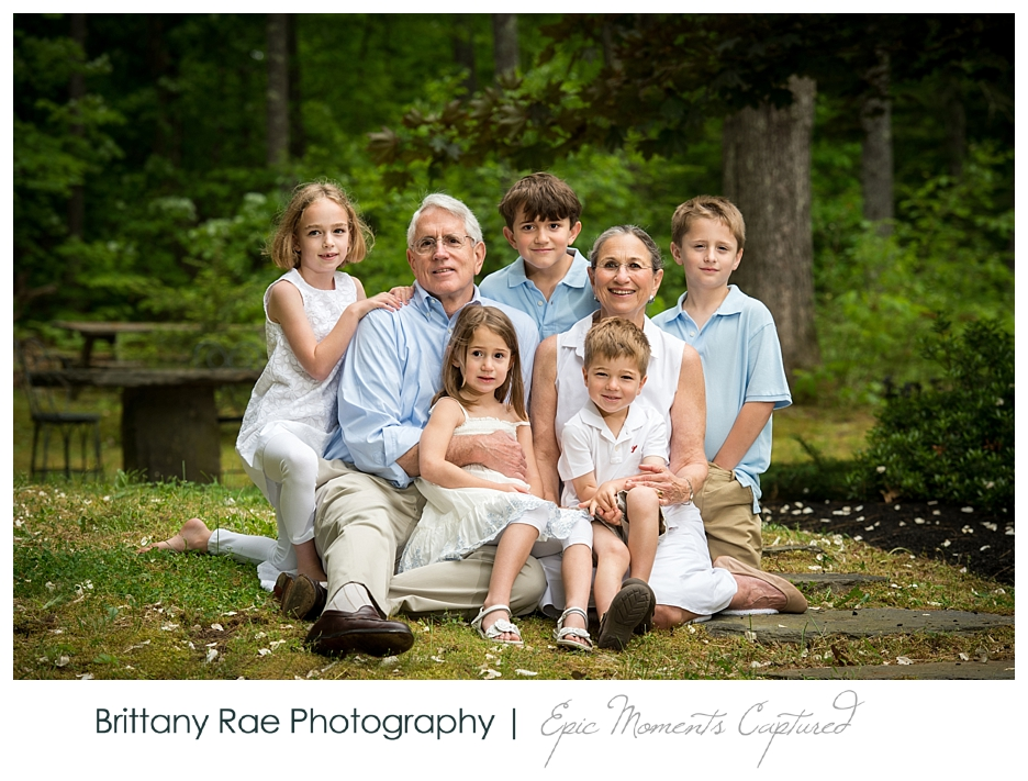 New Hampshire Family Portraits - Grandparents with Grandkids