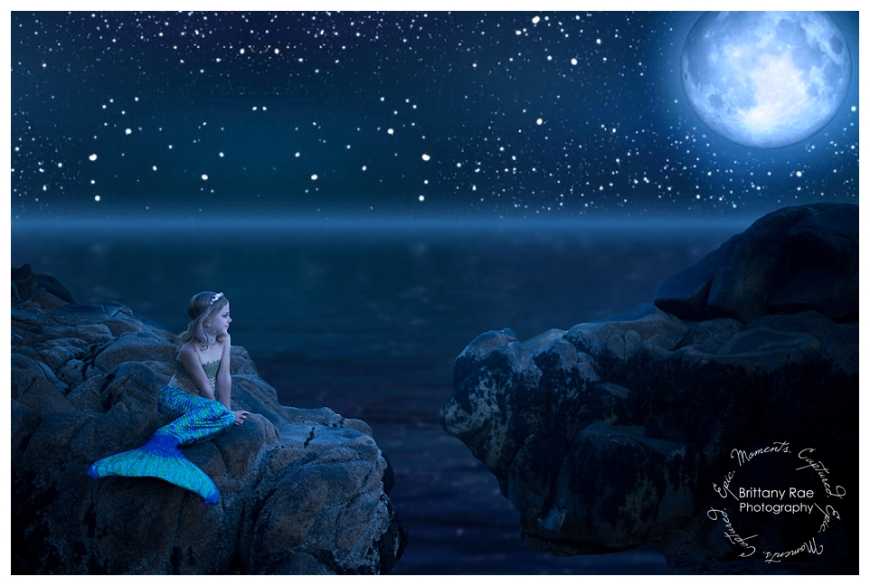 Mermaid Portraits by Maine Fantasy Photographer - Mermaid by moonlight