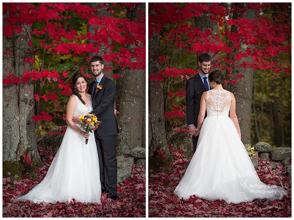 maine barn wedding at King's Hill Inn, Paris Maine - Fall Wedding Portraits - Maine Wedding Photographers, Brittany Rae Photography