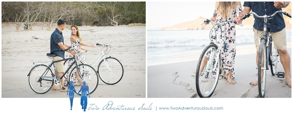 Engagement session in Costa Rica, Playa Minas, Costa Rica Wedding Photographers - Beach Engagement Session with Schwinn Bikes