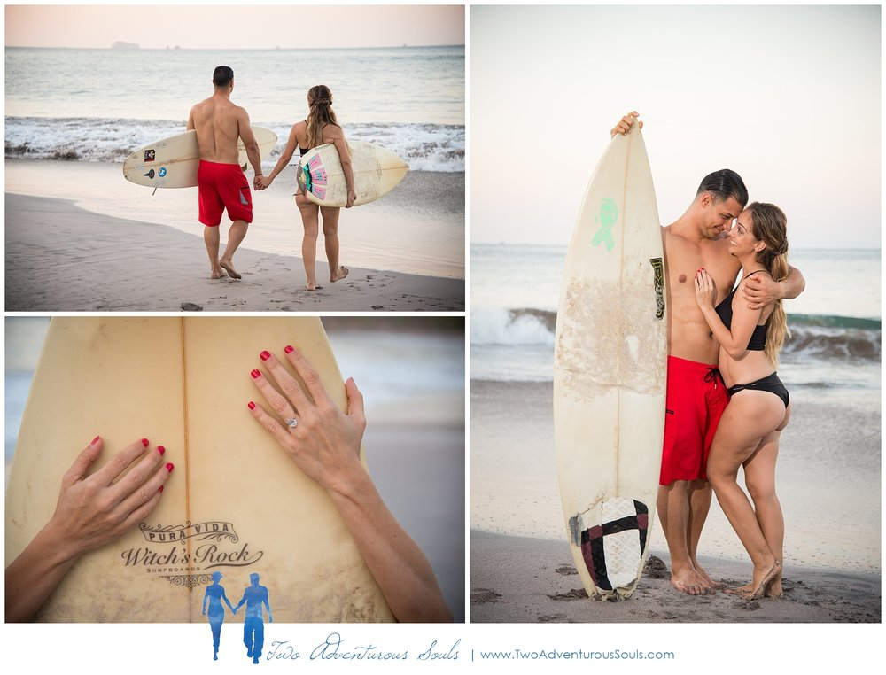 Engagement session in Costa Rica, Playa Minas, Costa Rica Wedding Photographers - Surfing couples session