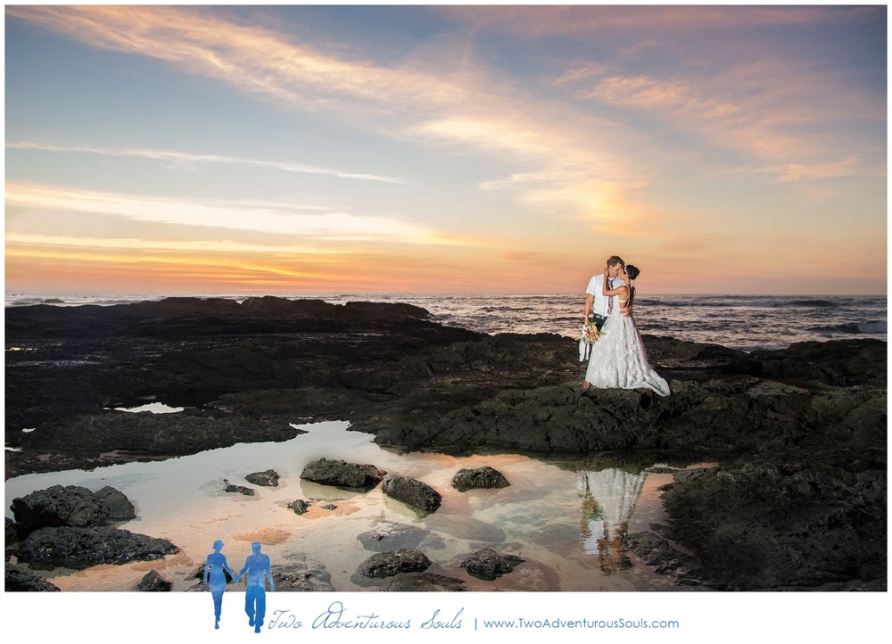 Sueno del Mar Elopement by Costa Rica Wedding Photographers Two Adventurous Souls - Sunset Wedding Portraits
