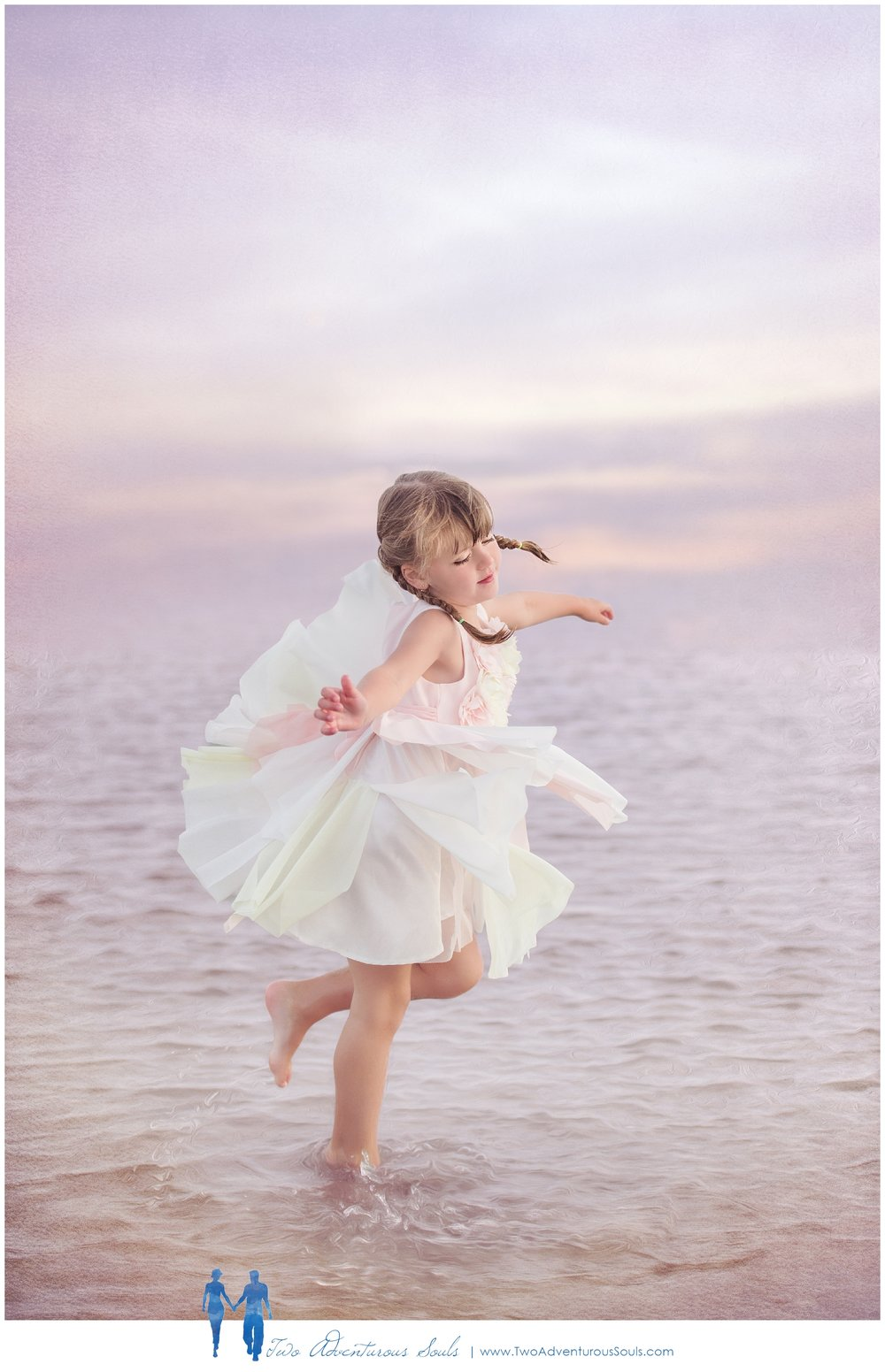 Old Orchard Beach Family Portraits, Fine Art Portraits - Ballerina dancing on the beach