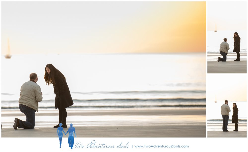 Surprise Proposal in Kennebunk Maine, Goochs Beach Photographer -