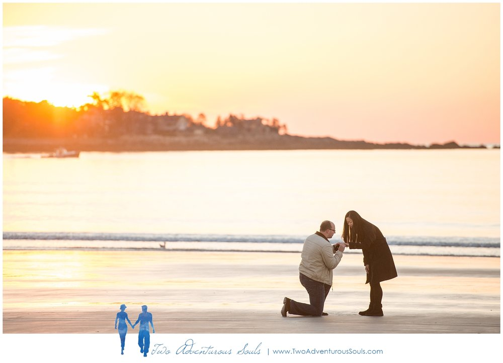 Surprise Proposal in Kennebunk Maine, Goochs Beach Photographer -