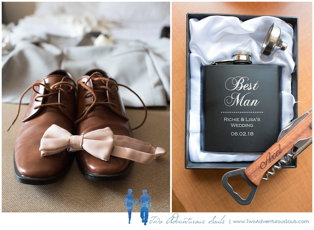 Harborview at Jones Landing Wedding by Maine Wedding Photographers - Blush Wedding details - 1