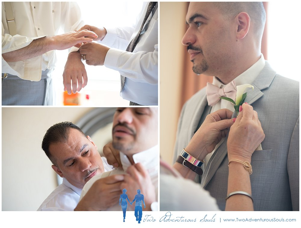 Harborview at Jones Landing Wedding by Maine Wedding Photographers - Groom getting ready - 4
