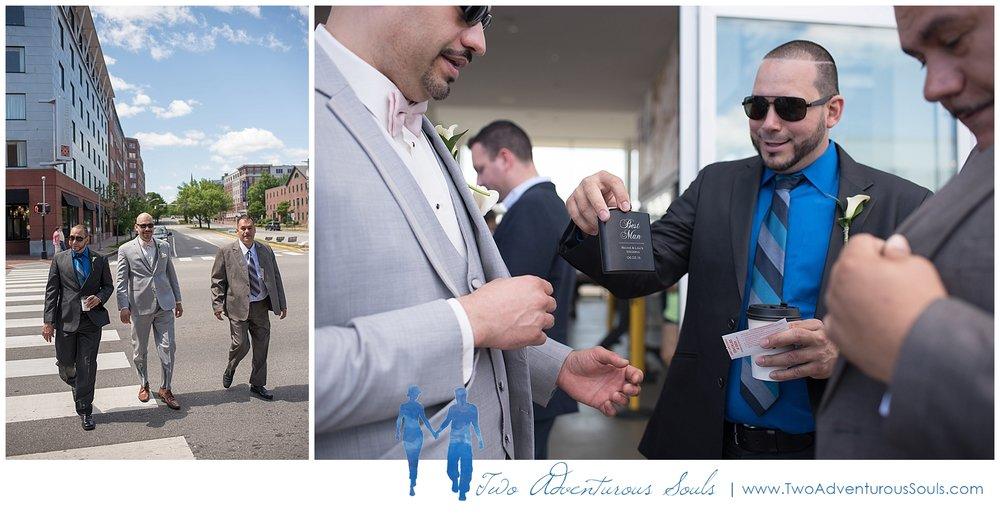 Harborview at Jones Landing Wedding by Maine Wedding Photographers - Groom on Ferry - 6