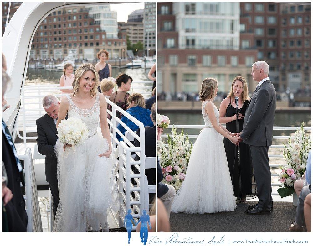 Seaport Elite Yacht Wedding, Boston Wedding Photographers, Two Adventurous Souls_Boston Harbor Wedding
