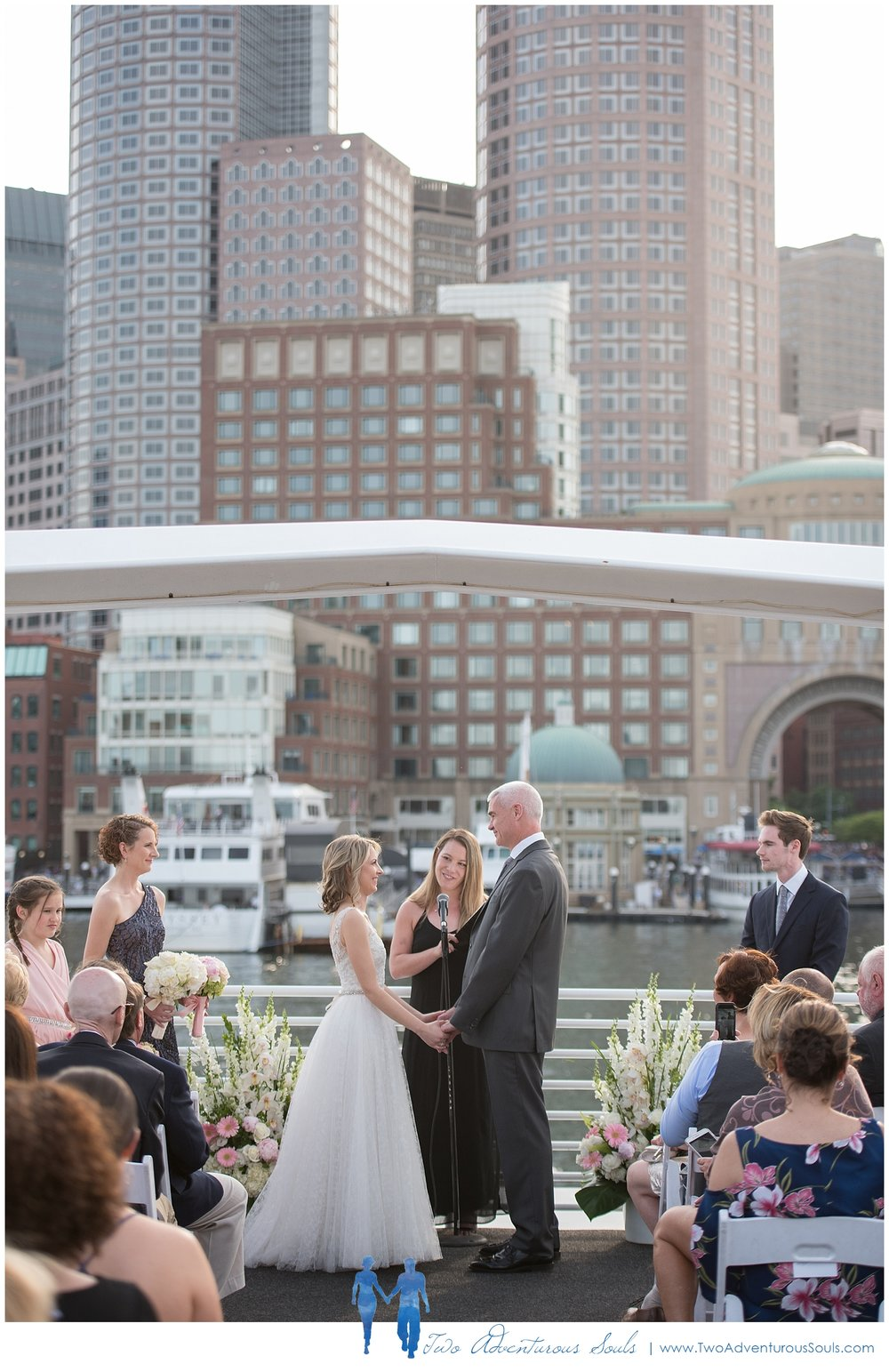 Seaport Elite Yacht Wedding, Boston Wedding Photographers, Two Adventurous Souls_Boston Harbor Ceremony