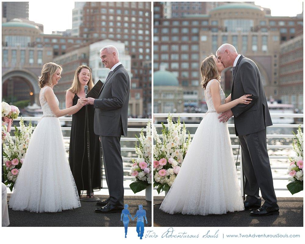 Seaport Elite Yacht Wedding, Boston Wedding Photographers, Two Adventurous Souls_Boston Harbor Cruise Wedding