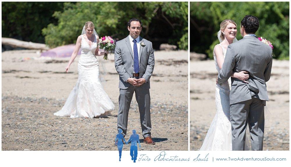 Inn on Peaks Island Wedding by Maine Wedding Photographers - First Look on Peaks