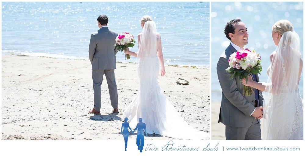 Inn on Peaks Island Wedding by Maine Wedding Photographers - First Look on Peaks Island