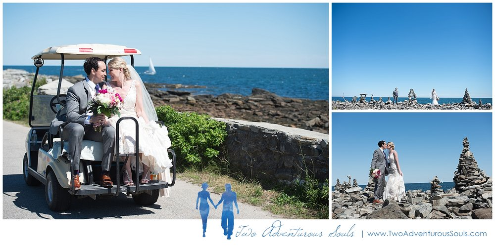 Inn on Peaks Island Wedding by Maine Wedding Photographers - Golf Cart Wedding