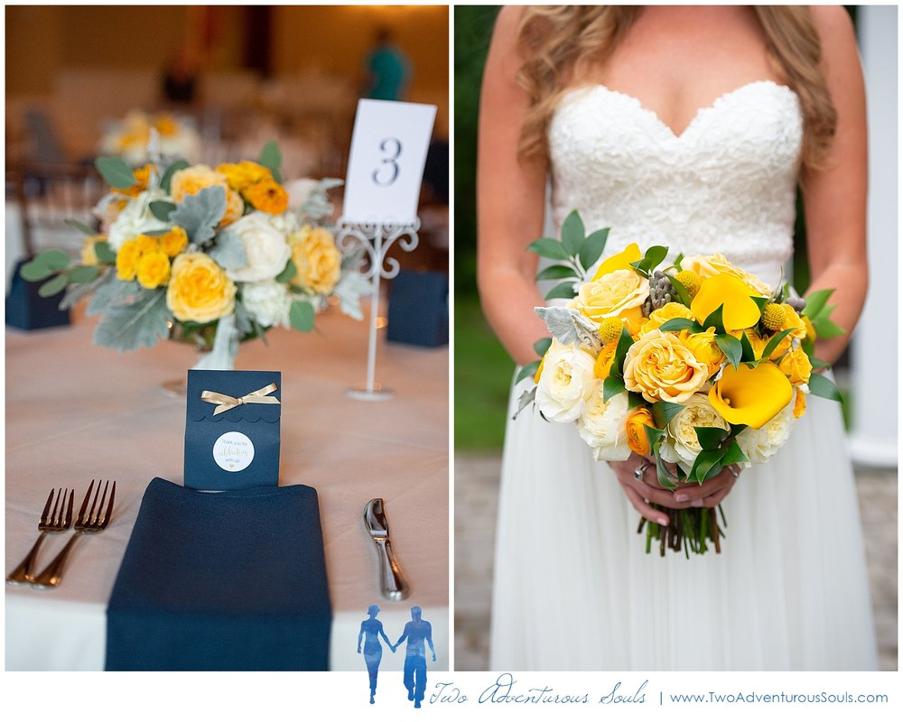 The Landing at Pine Point Wedding by Scarborough Maine Wedding Photographers - Yellow Bridal Bouquet