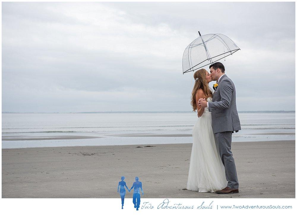 The Landing at Pine Point Wedding by Scarborough Maine Wedding Photographers - Rainy Beach Wedding