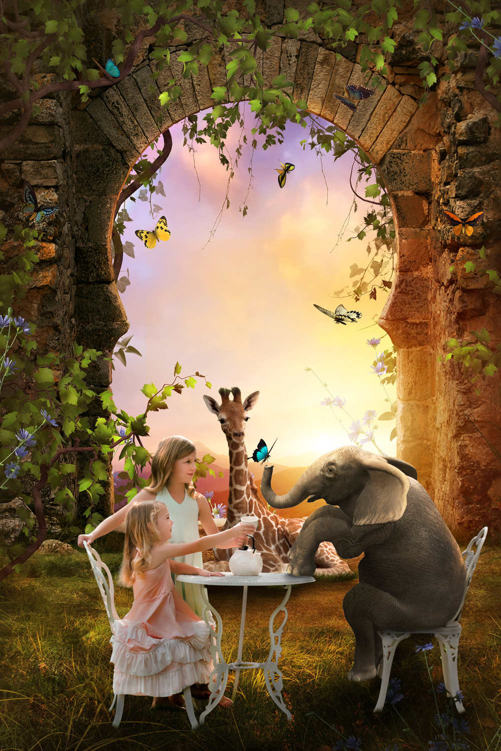 Sunlit TeaParty with animals - WIP.jpg