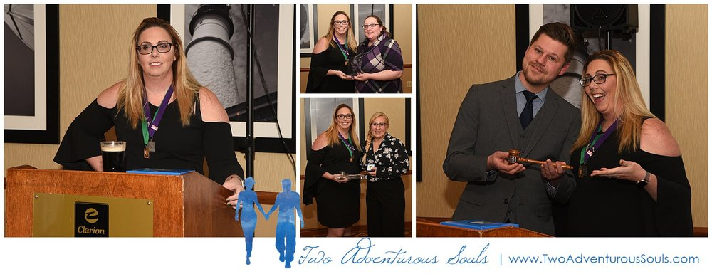 Here's Brittany making her Presidents speech (with a Guinness on St. Patrick's Day), Awarding Emily Small of Flutter Focus Photography the Presidential Service Award for being amazing this past year! Below that is Patricia Tackacs of Kivalo Photography awarding Brittany with her Presidential Award for her service during the 2018-2019 year. And Finally Brittany handing over the official gavel to James Flachsbart of Flax Studios, our new incoming President.