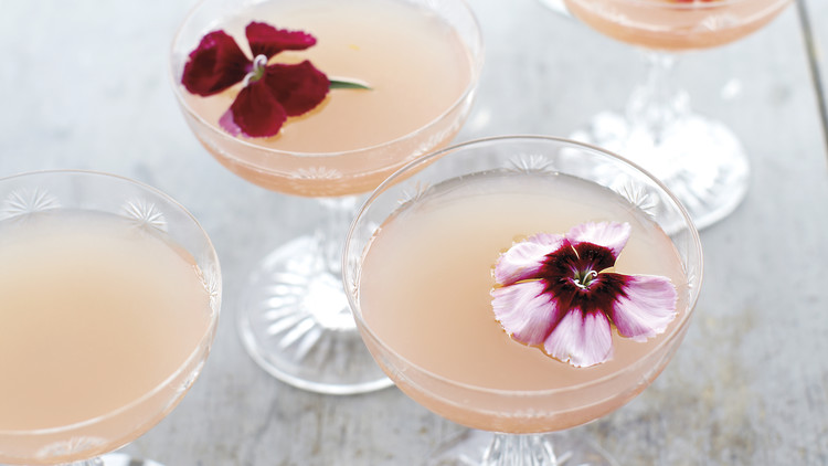 Lillet Rose Spring Cocktail - photo via    marthastewart.com