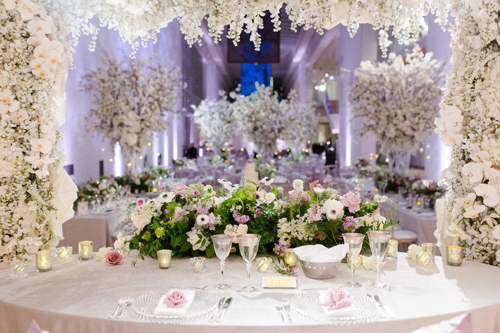 Design & Floral:    Kehoe Designs    | Lighting & Sound:    BlackOak Technical Productions    | Photo:    Studio This Is Photography    | Planning:    Big City Bride    | Venue:    Art Institute of Chicago