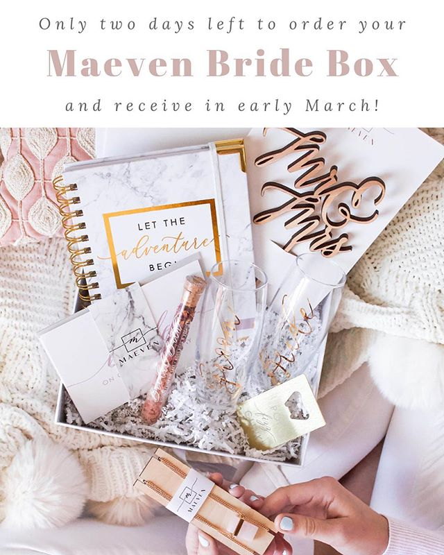 Subscribe to Maeven Bride Box by February 28th and receive this acrylic ring box in your April box!! All new subscribers will receive our intro box in March and then this beauty in their second box in April! 💕